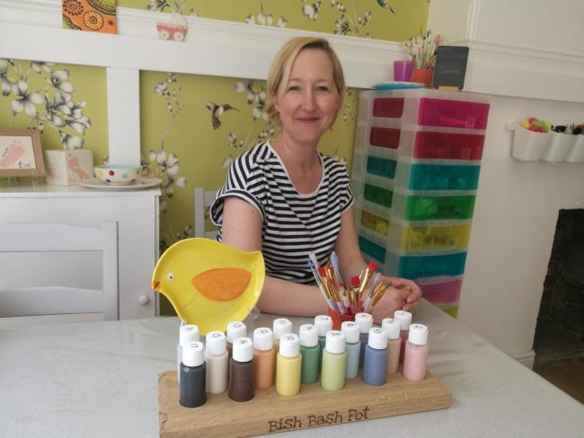 Angela Collinson at Bish Bash Pot, Walmgate
