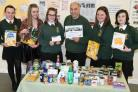 Pickering Town Youth Council with John Mackenzie, Pickering foodbank manager