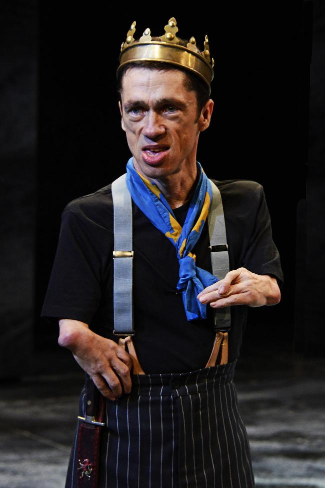 Mat Fraser as Richard III for Northern Broadsides and Hull Truck Theatre. Picture: Nobby Clark