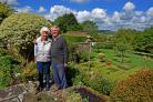Michael and Julia Burrows who are among those opening their garden at Manor House in Bulmer as part of the bank holiday event      Picture: Nigel Holland