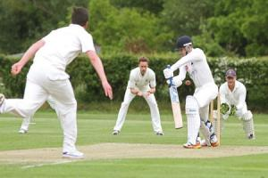 Dunnington's Adam Sutcliffe faces Studley Royal's James Clarkson. Picture: Richard Doughty Photography