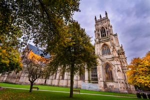 York minster is a grand gothic style cathedral in York City, UK..