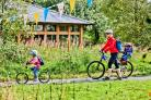 Family cycling at Sutton Bank National Park Centre Picture: Chris J Parker.