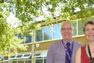 PARTNERSHIP: from left, Richard Ludlow, Ebor Academy Trust chief executive, Lesley Barringer, Osbaldwick Primary School headteacher, and Nikki Walters, Early Excellence regional development manager, at Osbaldwick Primary School's The Leyes site. Picture