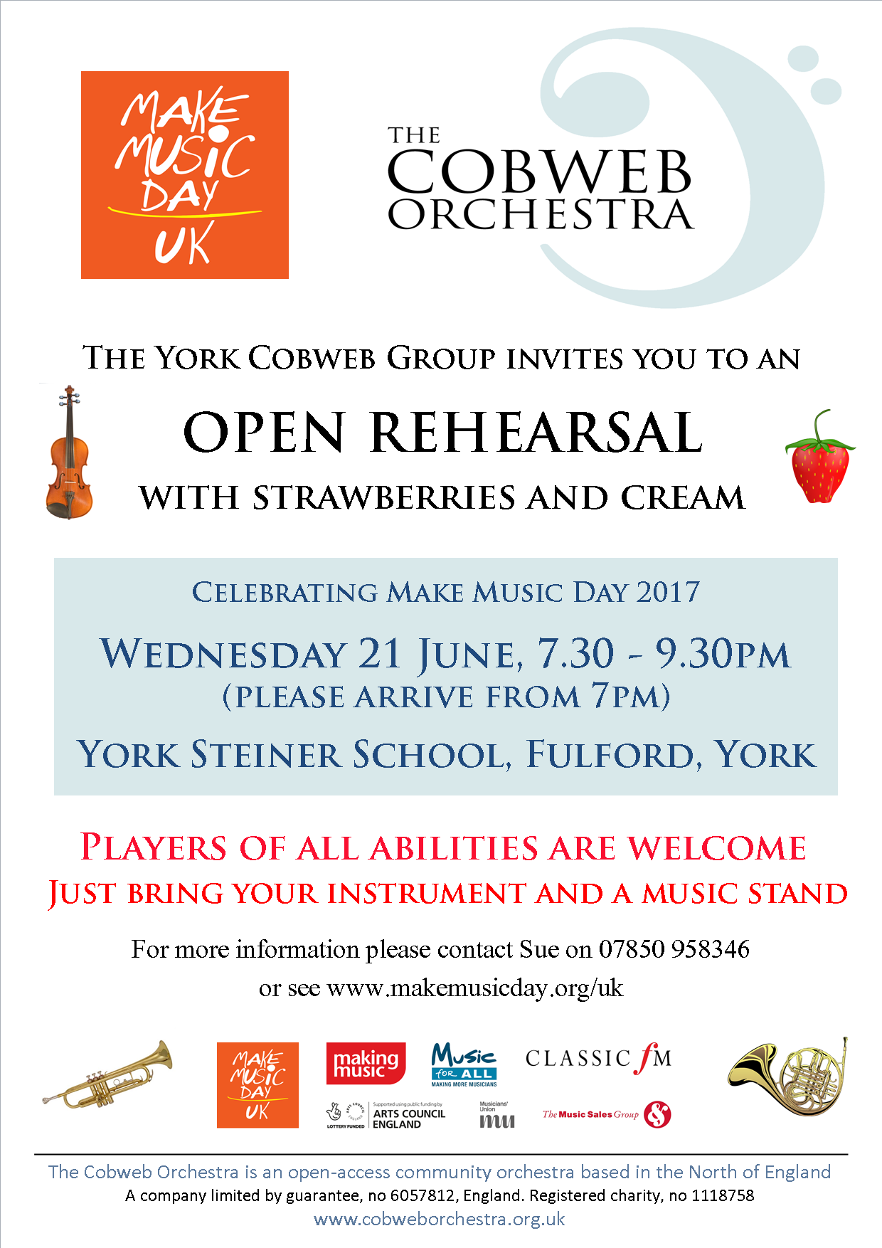 Make Music Day - York Cobweb Orchestra Open Rehearsal