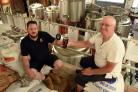 CHEERS: Wayne Smith of Brew York and Ken Wright of CAMRA launch York Ale Trail  Pic Nigel Holland