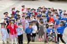 CELEBRATION: Clifton Green Primary School early years pupils graduate to Year 1. Picture David Harrison.
