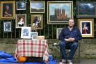 Artist David Appleby from Nottingham at the York River Art Market on Dame Judi Dench Walk. Picture: Richard Doughty