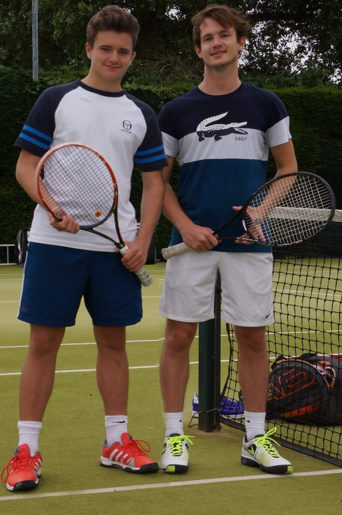André (left) and Liam Earnshaw were in fine form for Poppleton