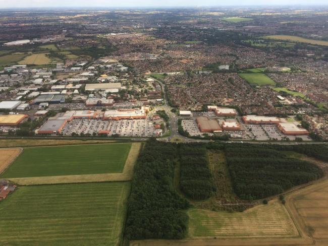 Clifton Moor retail park from the air Picture: Haydn Lewis