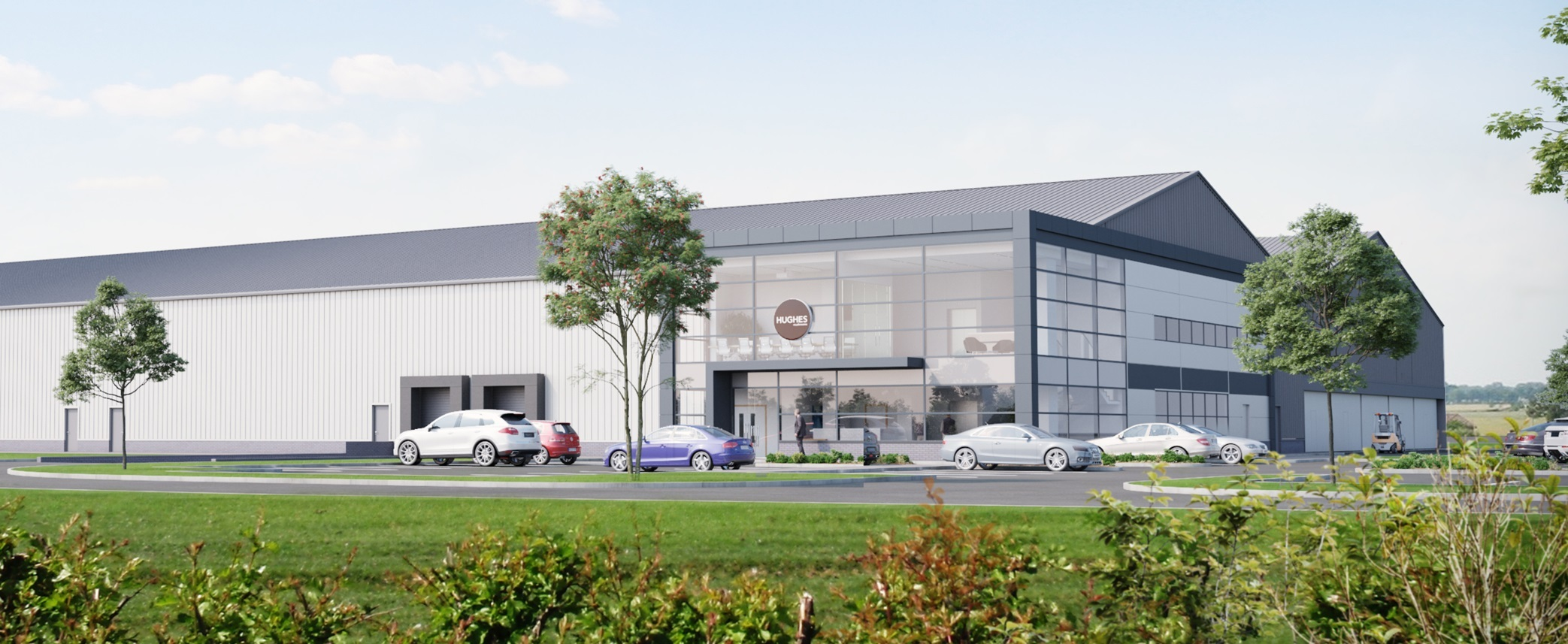 A CGI of the new Hughes facility at Holme on Spalding Moor