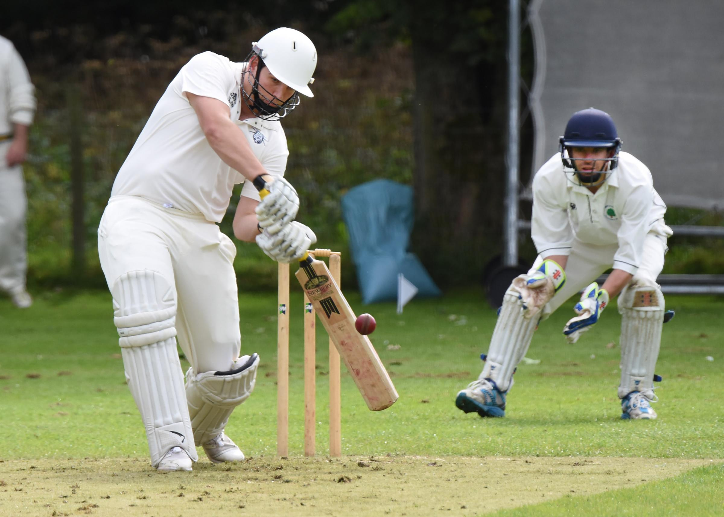 WHAT A WAY TO WIN IT: Simon Walgate, who smashed a straight six in the final over to win Thixendale's game against title rivals Pocklington in Foss Evening League division three