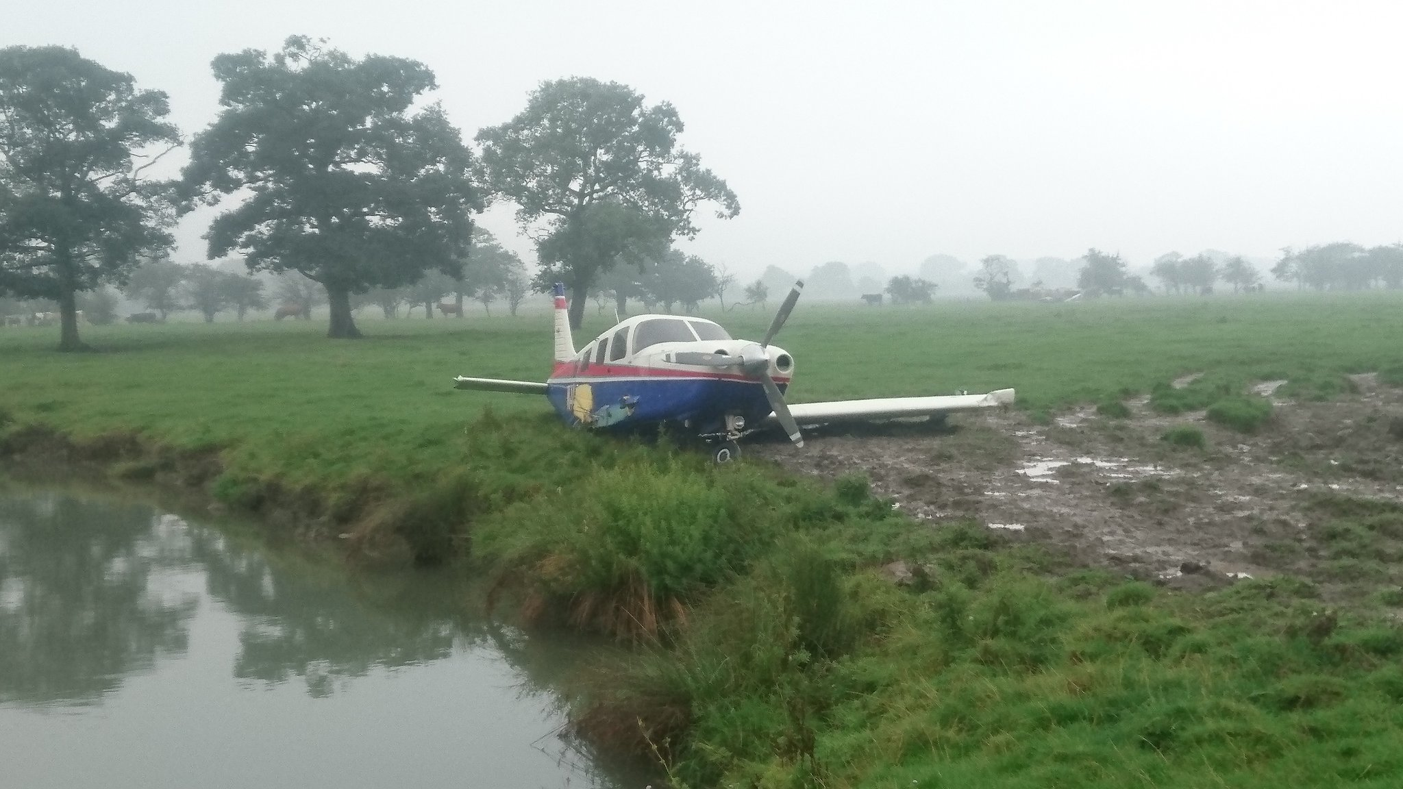Lucky escape as plane crashes in North Yorkshire field