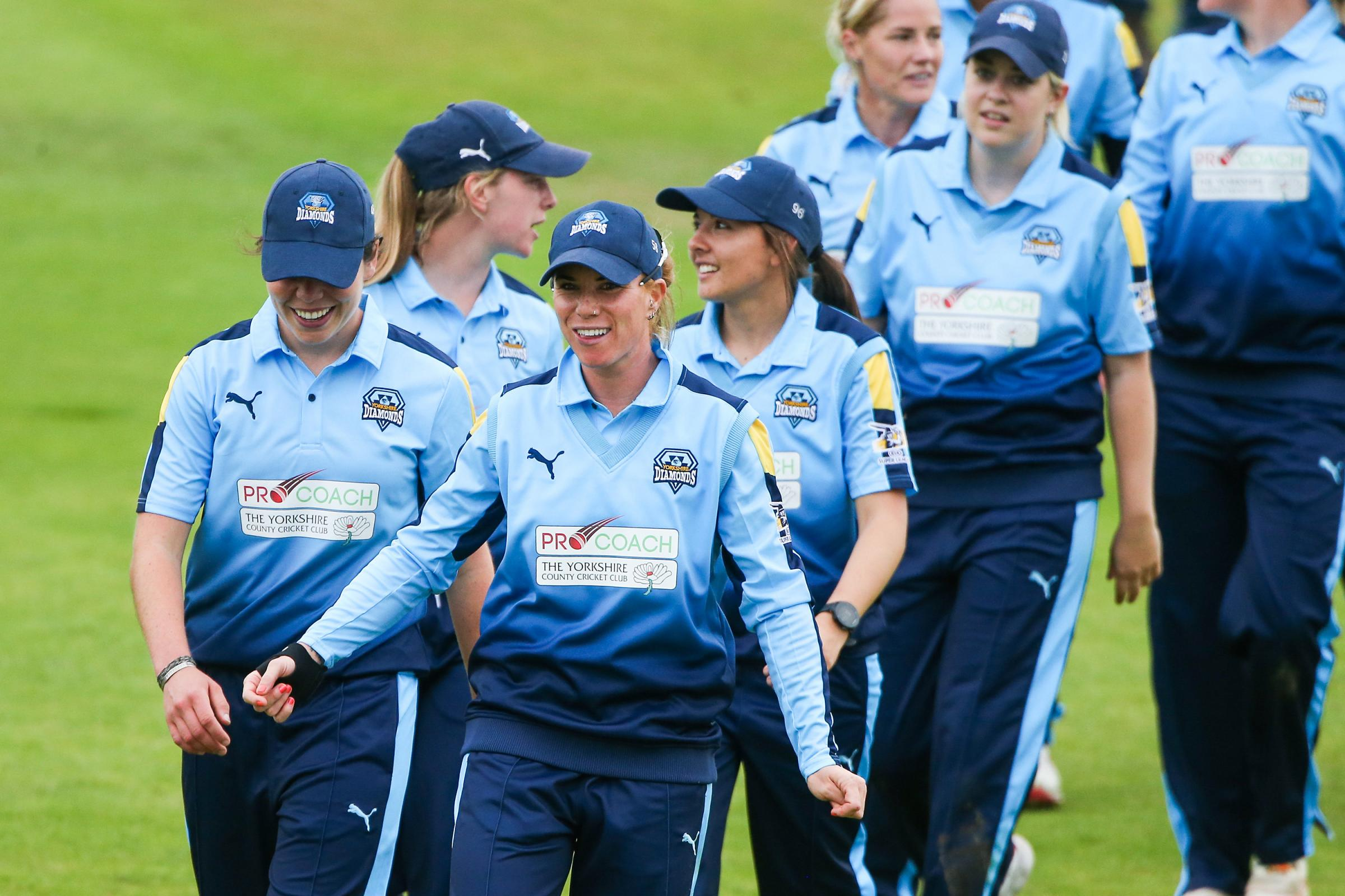 Yorkshire's Lauren Winfield and team-mates