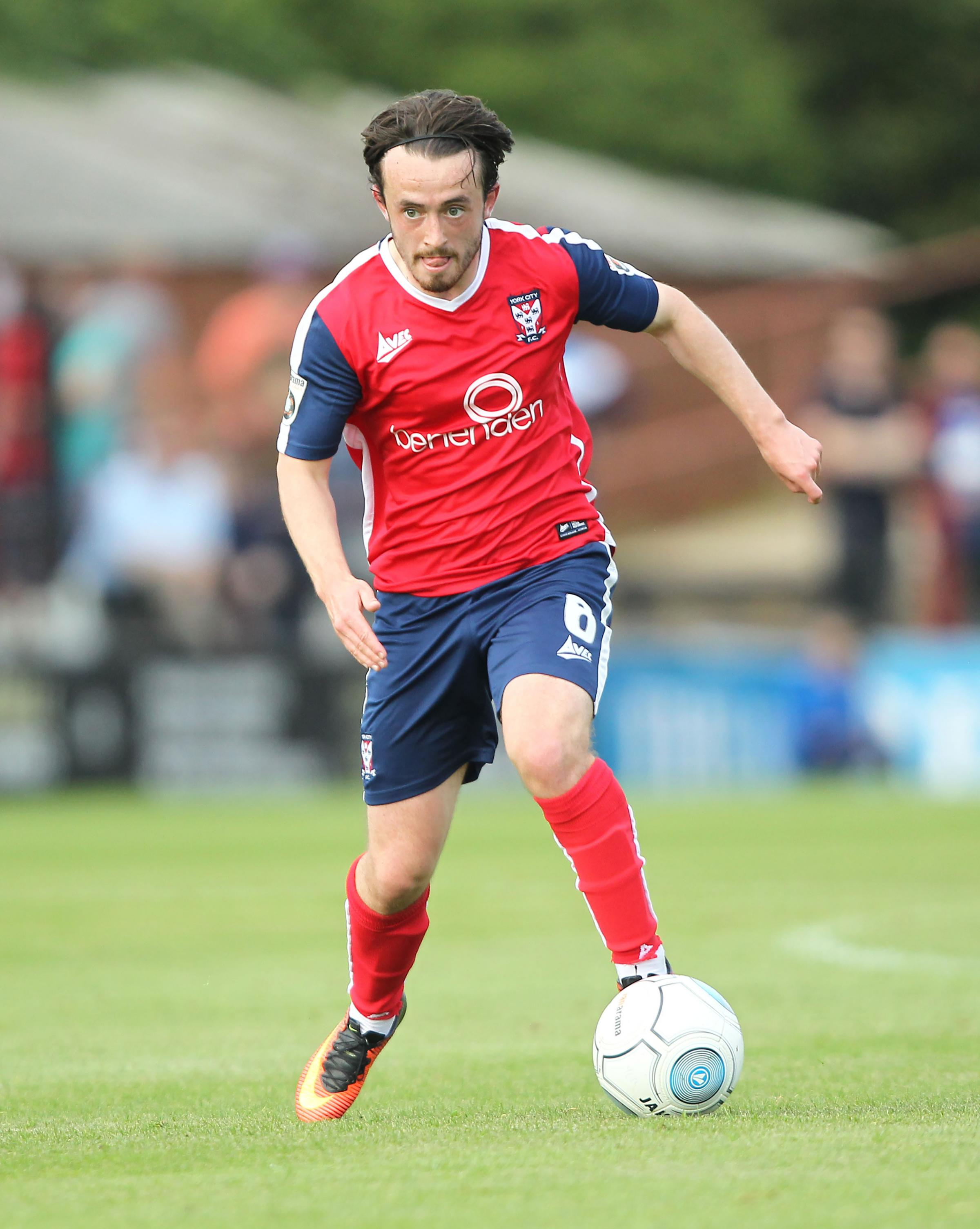 AIDING THE CAUSE: York City attacker Aidan Connolly believes new forward signings will get the best out of everybody