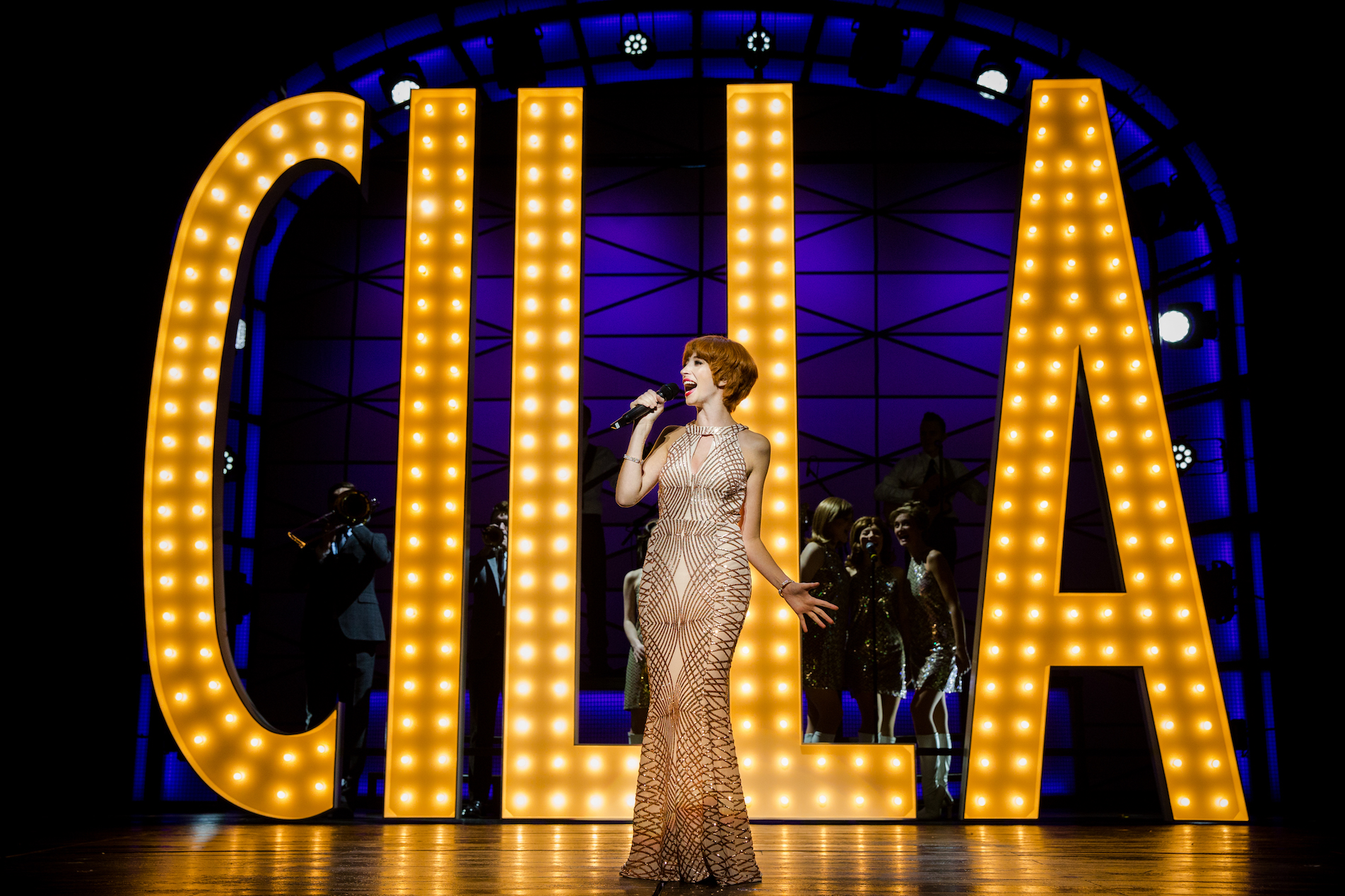 Kara Lily Hayworth as Cilla in Cilla, The Musical, on tour at the Grand Opera House, York. Picture: Matt Martin