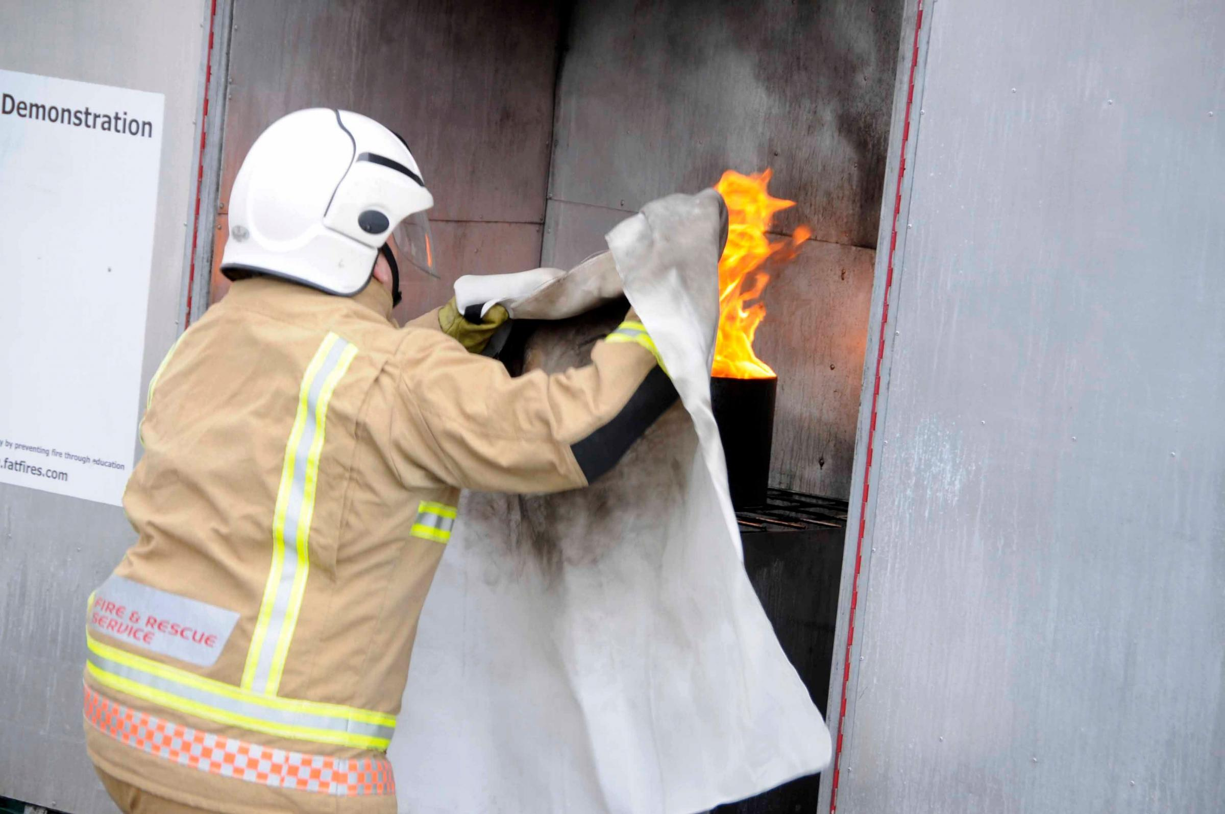 Firefighters are offering businesses safety advice this week Picture: Graham Hunt