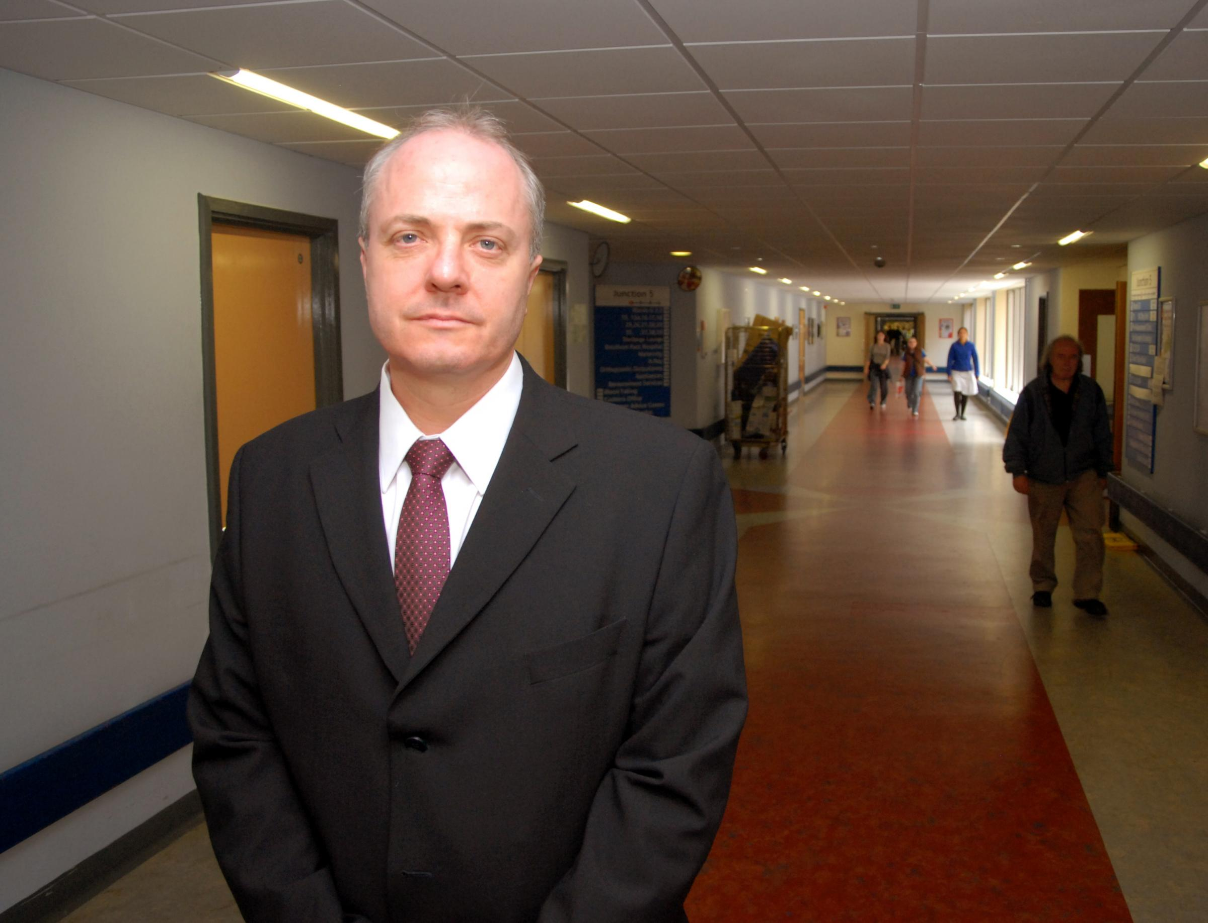 REPLACEMENT SOUGHT: Patrick Crowley, former chief executive of York Teaching Hospital NHS Foundation Trust