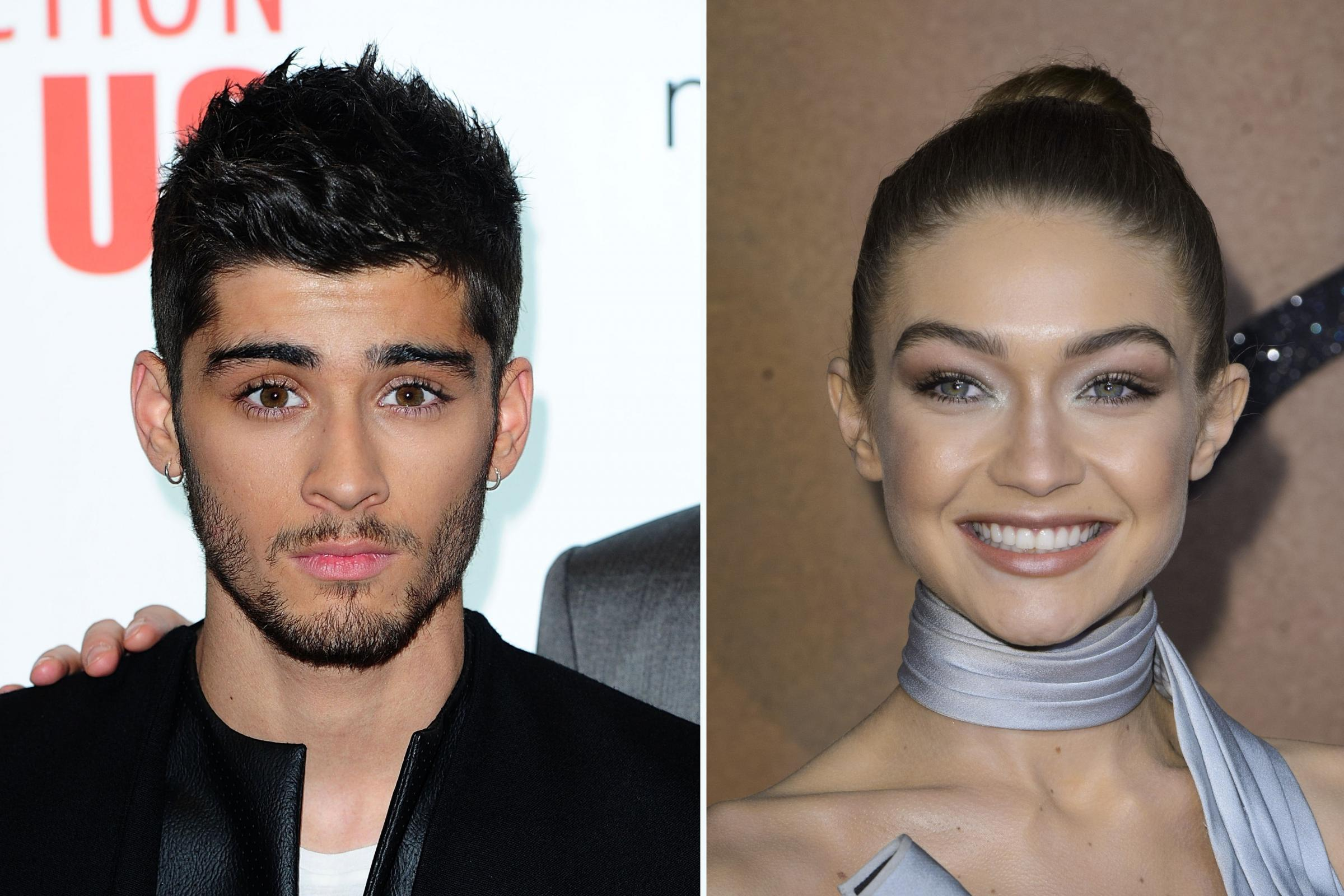 Zayn Malik and his girlfriend Gigi Hadid (PA)