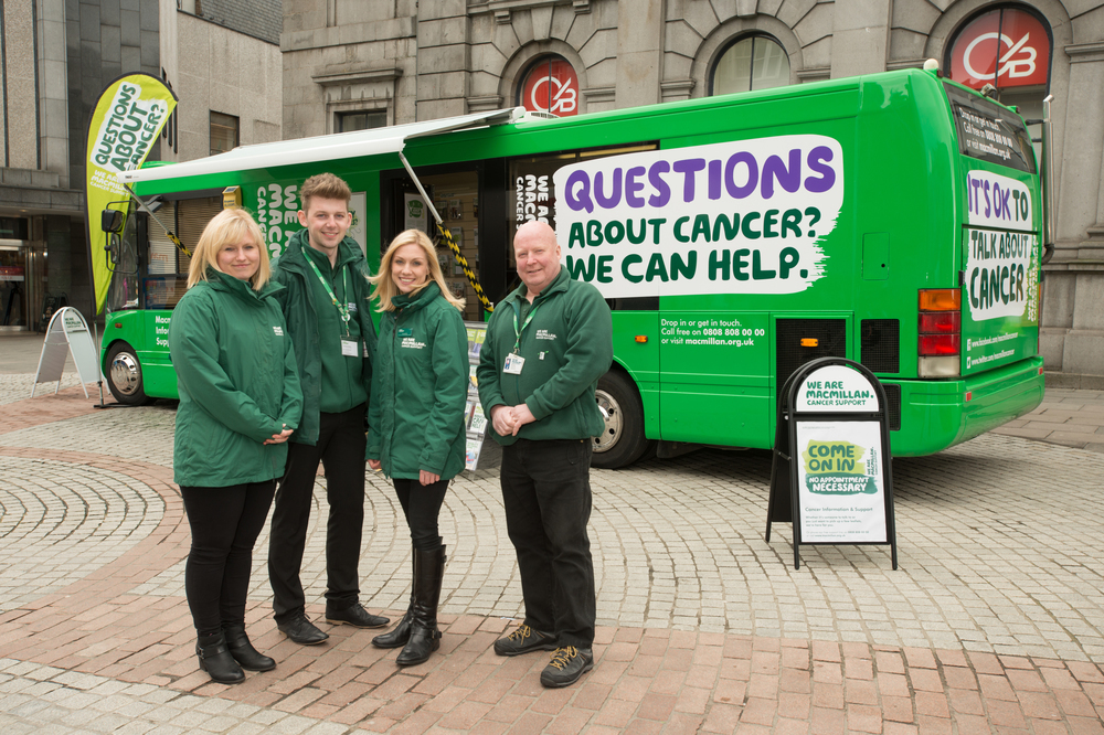 HELP ON HAND: Macmillan Cancer Support's mobile bus service