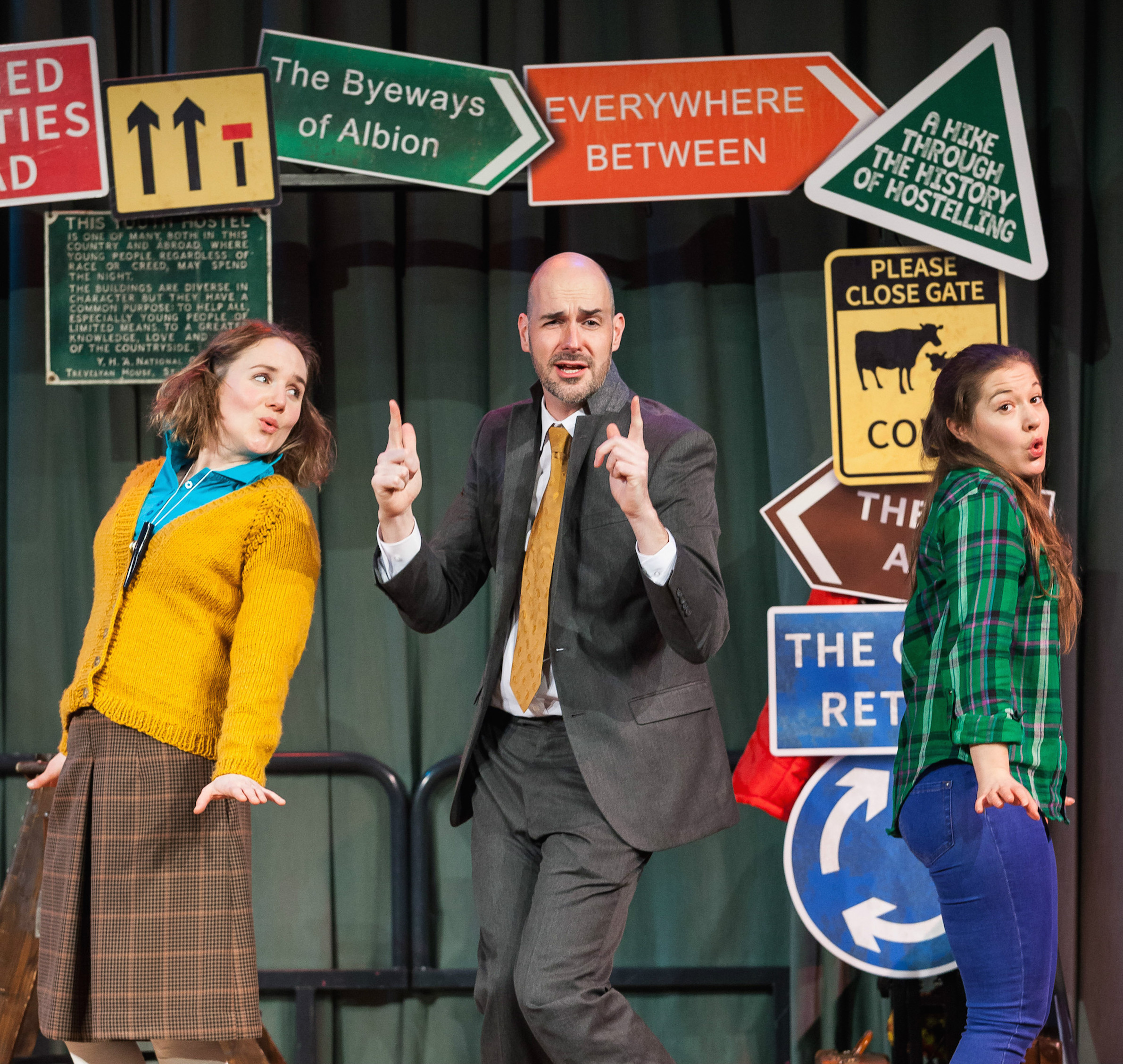 Rose McPhilemy, left, James McLean and Claire-Marie Seddon in Best Foot Forward. Picture: Peter Boyd