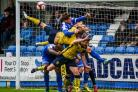 FA Trophy Incredible goalmouth action between Tadcaster Albion and Glossop North End
