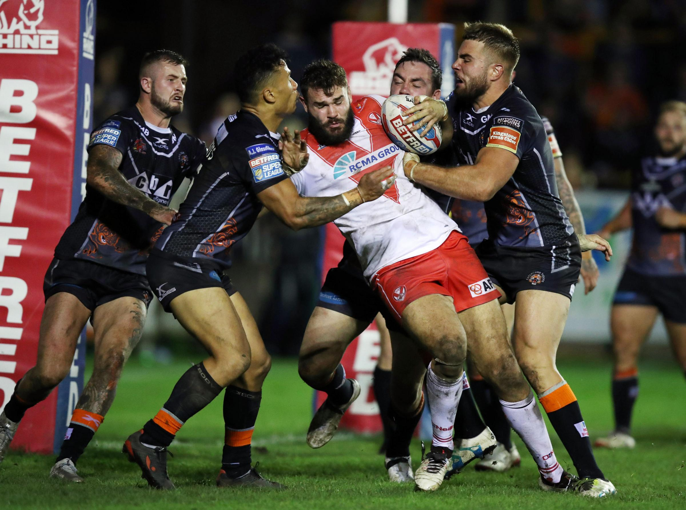 England call-up Alex Walmsley in action for St Helens against Castleford last month – Picture: Mike Egerton/PA Wire