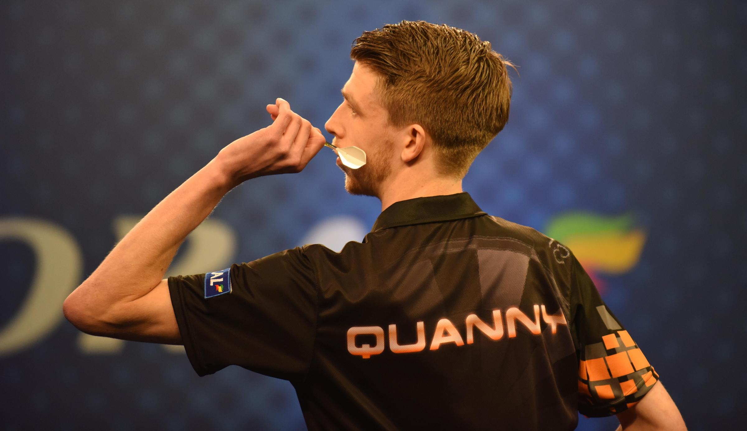 OPEN DEFEAT: Chris Quantock lose his first round Coral UK Open match against Bradley Brooks