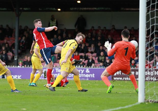 York Press: IN CONTENTION: York City's Daniel Rowe could feature on Saturday after scoring on his debut last week