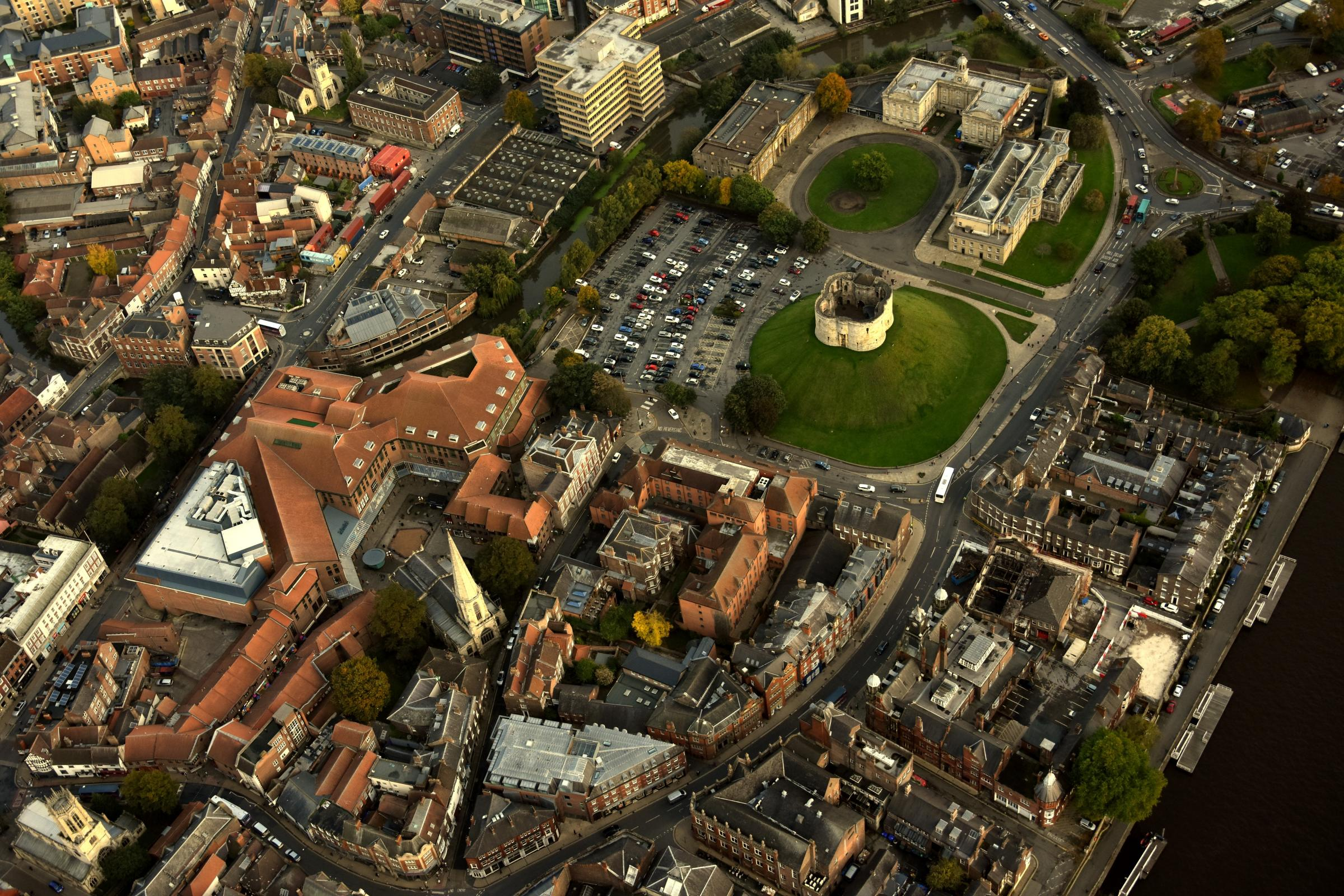York's Clifford's Tower, seen from the air. Picture: Frank Dwyer.