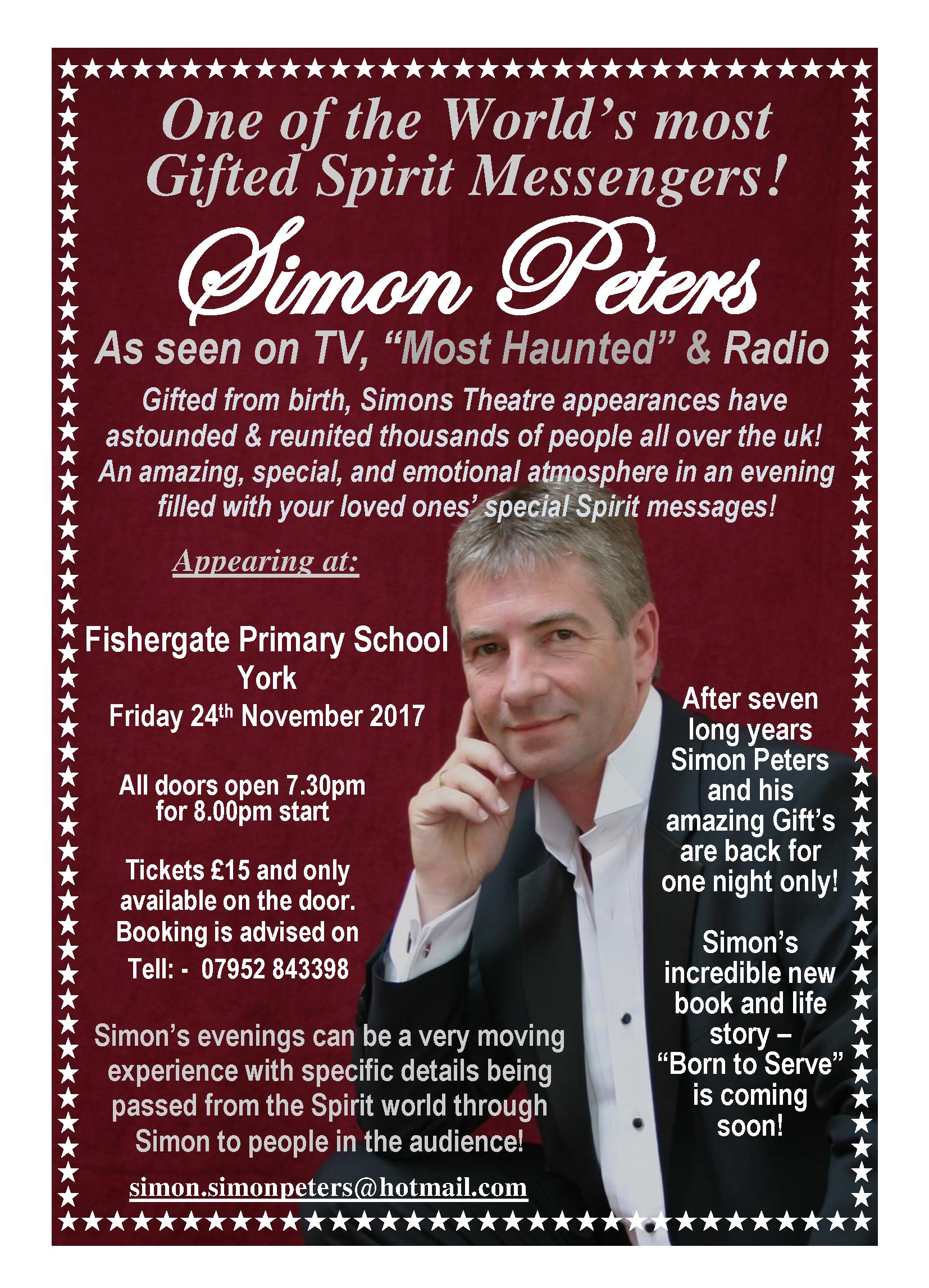 An Evening of Mediumship with Simon Peters