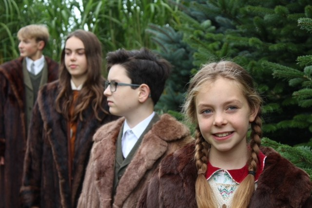Sam Roberts, left, Grace Brown, Jack Hambleton and Margaux Barker in NEMusicals York's The Lion, The Witch And The Wardrobe. Picture: Myriam Barker