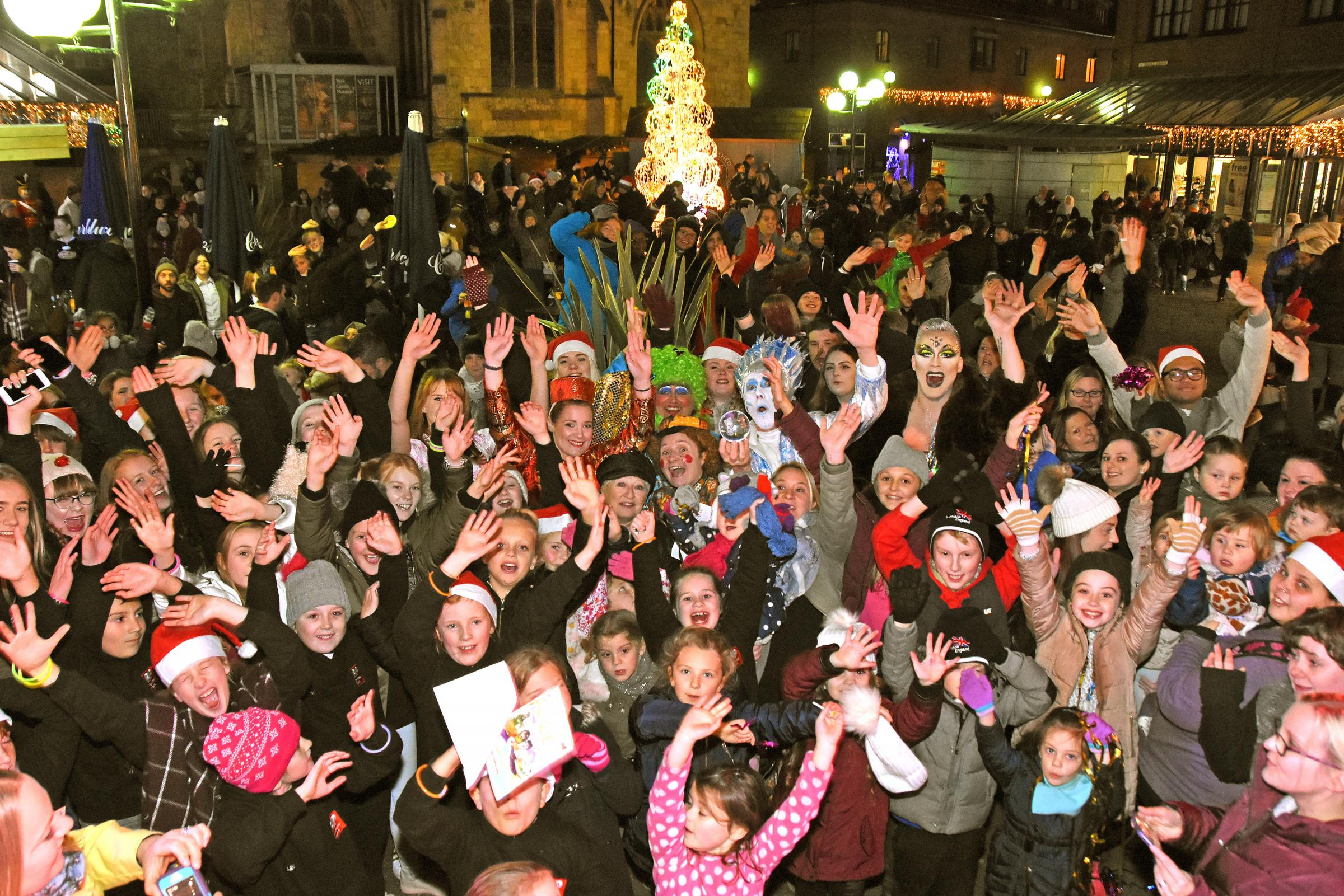 Crowds pictured at a previous Coppergate Christmas Lights switch on ceremony. Picture David Harrison/Coppergate.