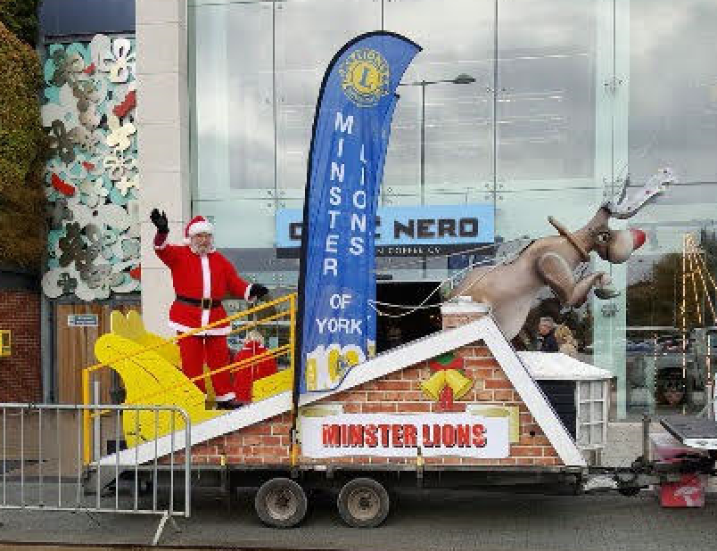 Minster Lions' Rocking Rudolph