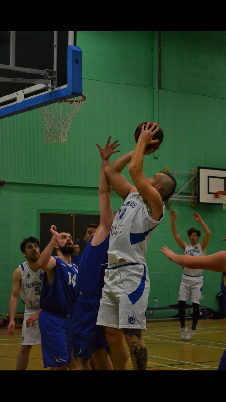 WRIGHT PLACE, WRIGHT TIME: York Vikings' Adam Wright shoots for another basket against Sefton Stars. Wright scored 38 points in his team's 85-62 triumph and he was named National League Division Four Player of the Week