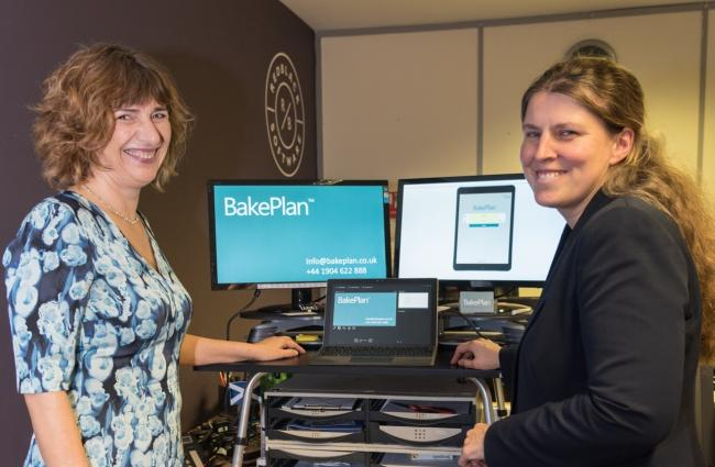 BakePlan's managing director Jane Tyler with York MP Rachael Maskell