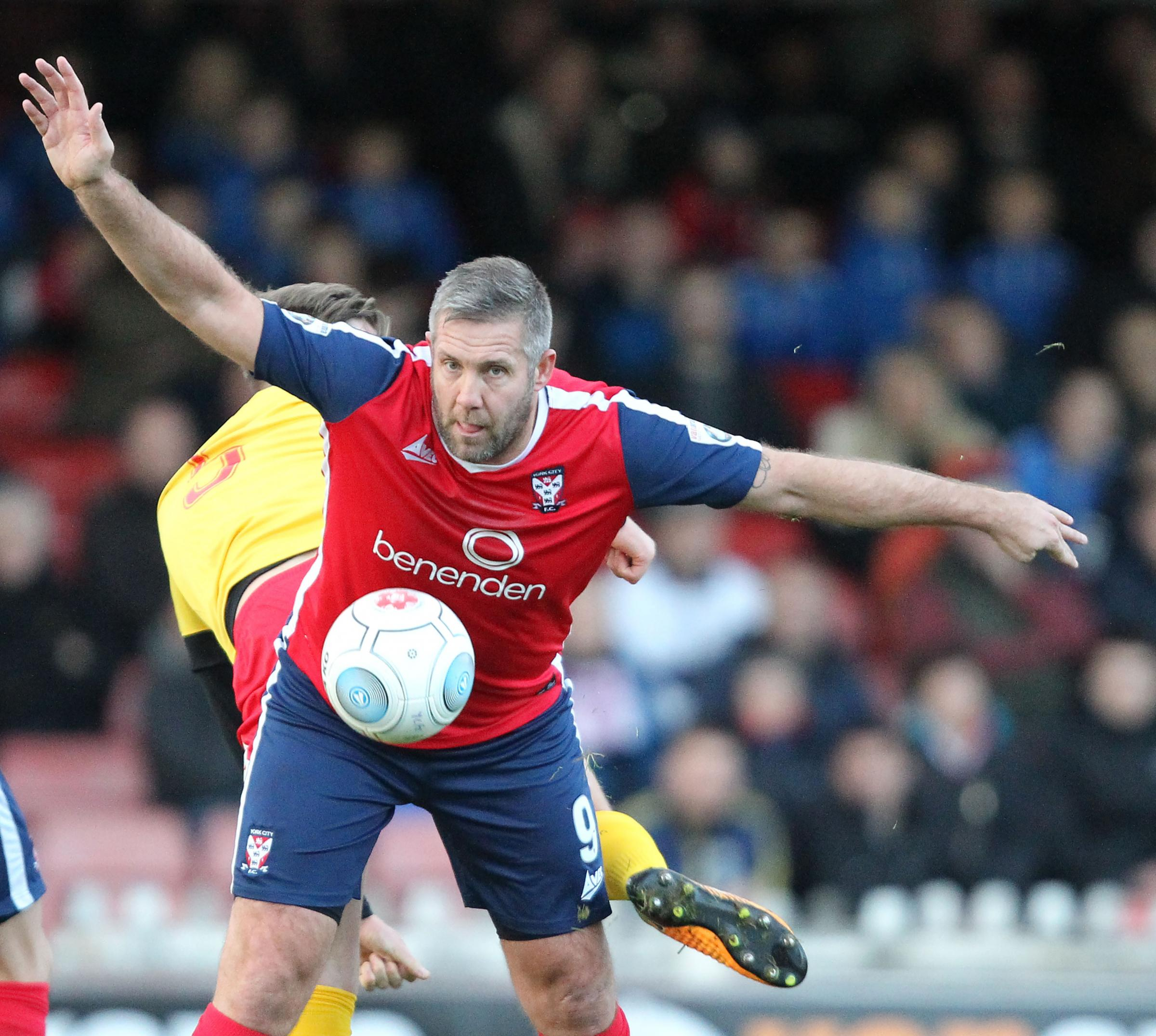 York City striker Jon Parkin. Picture: Gordon Clayton