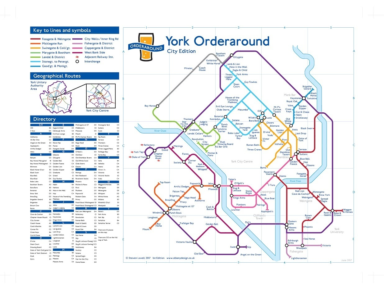 London Undergroundstyle map is the perfect guide to Yorks pubs