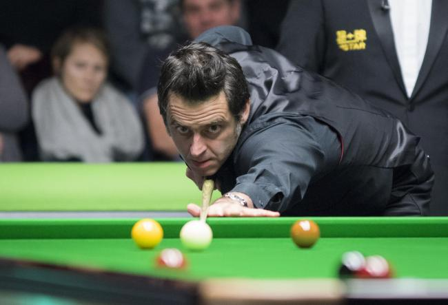 Ronnie O'Sullivan in action against Jackson Page at the Betway UK Championship. Picture Ian Parker