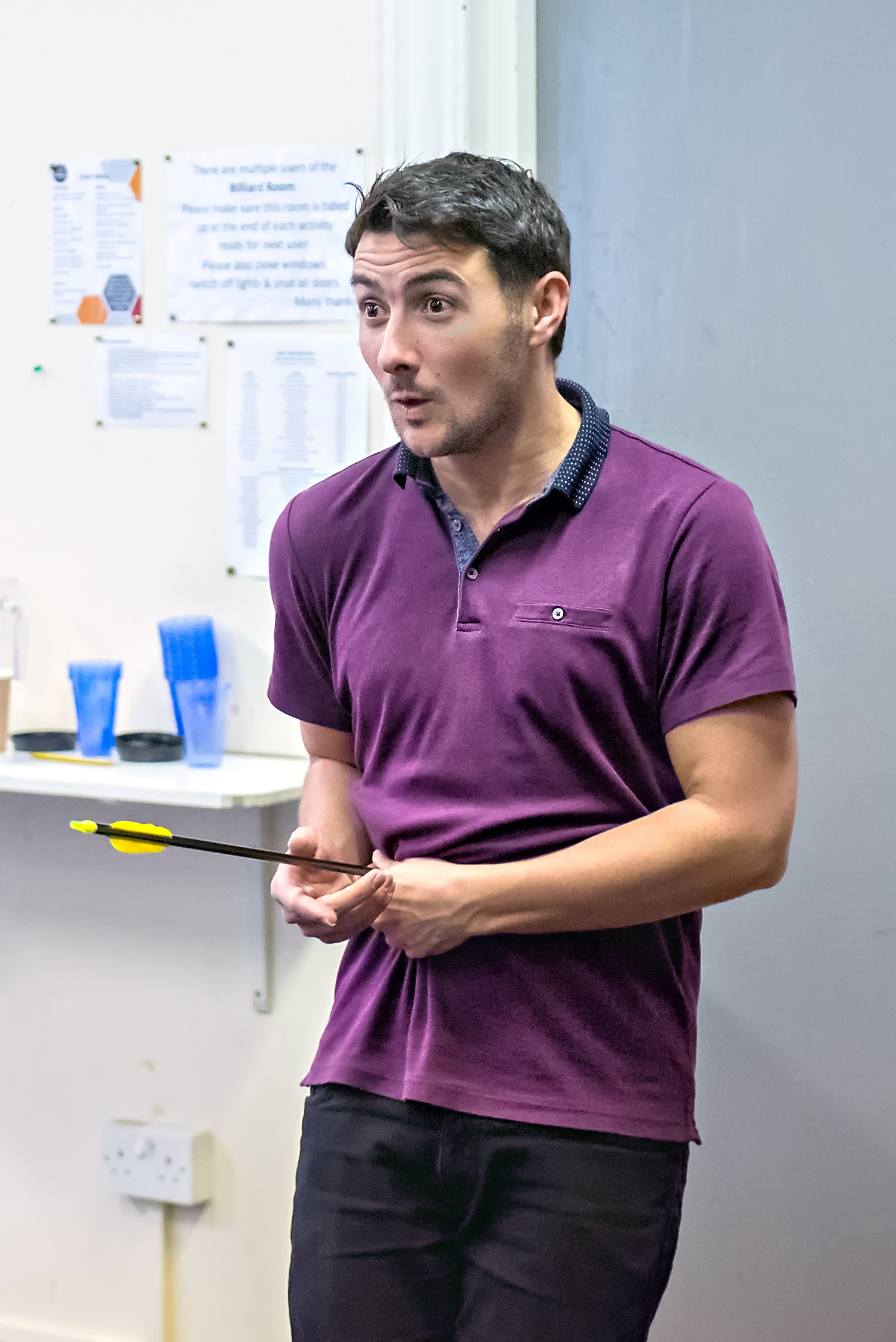 Selby actor Luke Adamson in rehearsal for Jack And The Beanstalk. Picture: Anthony Robling