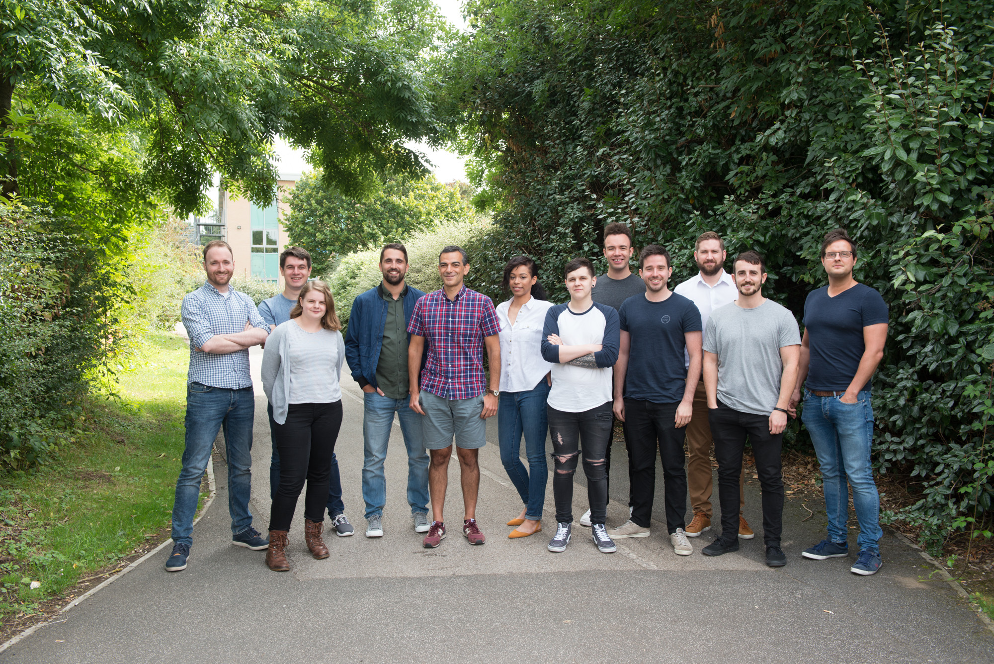 The Rotacloud team with the three founders: David Brandon (fifth from right), Joel Beverley (fourth from right), James Lintern (second from right)