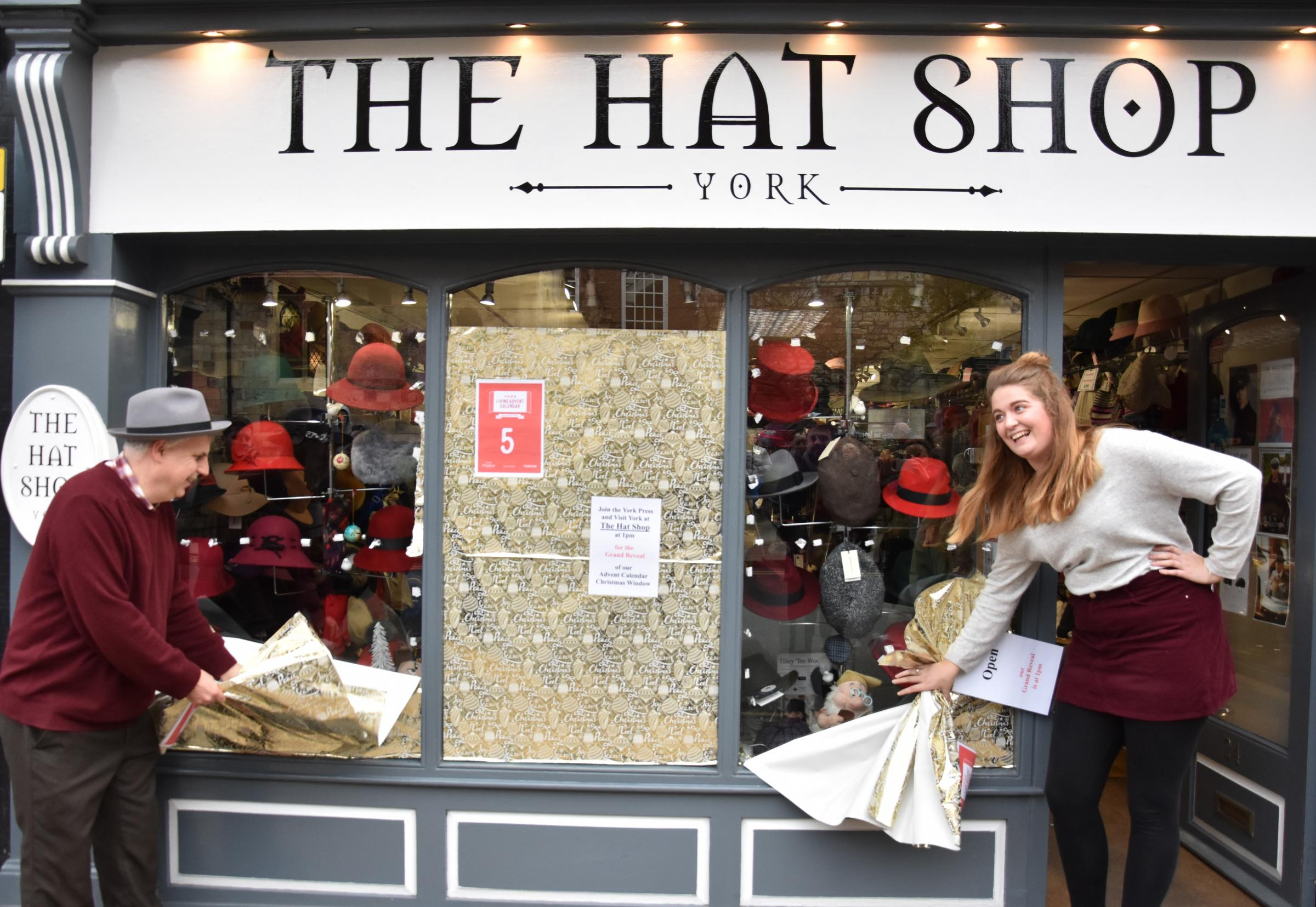 Hats off to latest shop window Advent entry