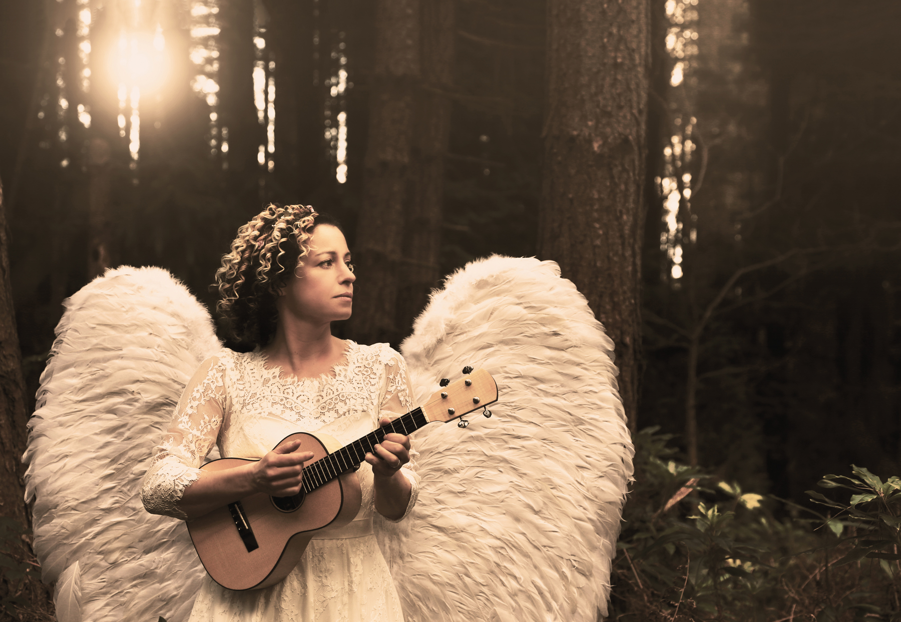 Kate Rusby: angel wings in Nativity Play finale