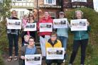 Carlton Tavern campaigners as the council planning committee visited the site onTuesday   Picture Frank Dwyer.