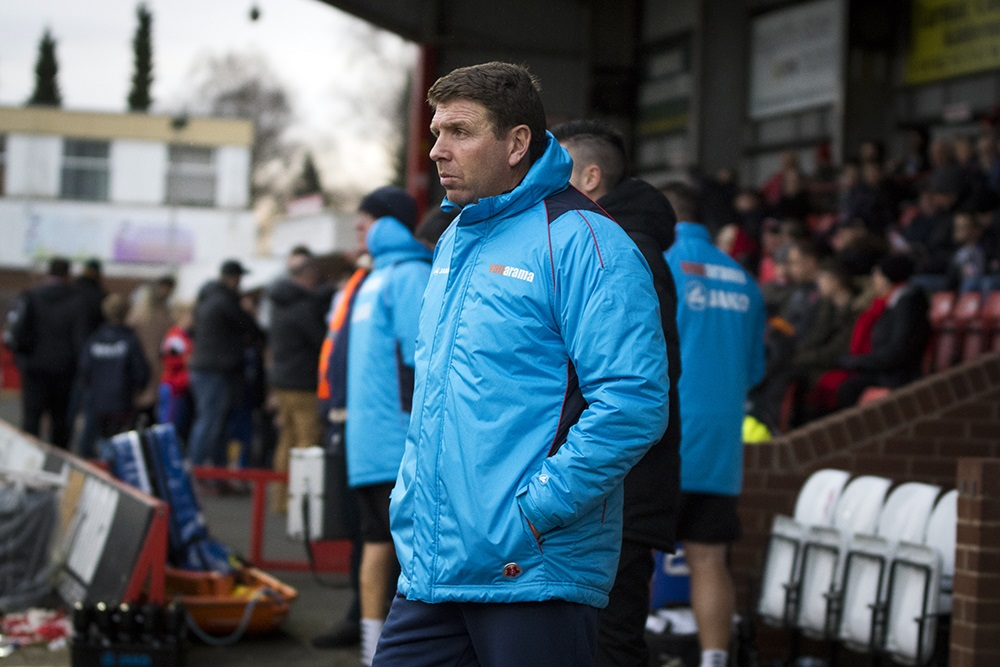 STAYING POSITIVE: York City boss Martin Gray at Kidderminster. Picture: Ian Parker