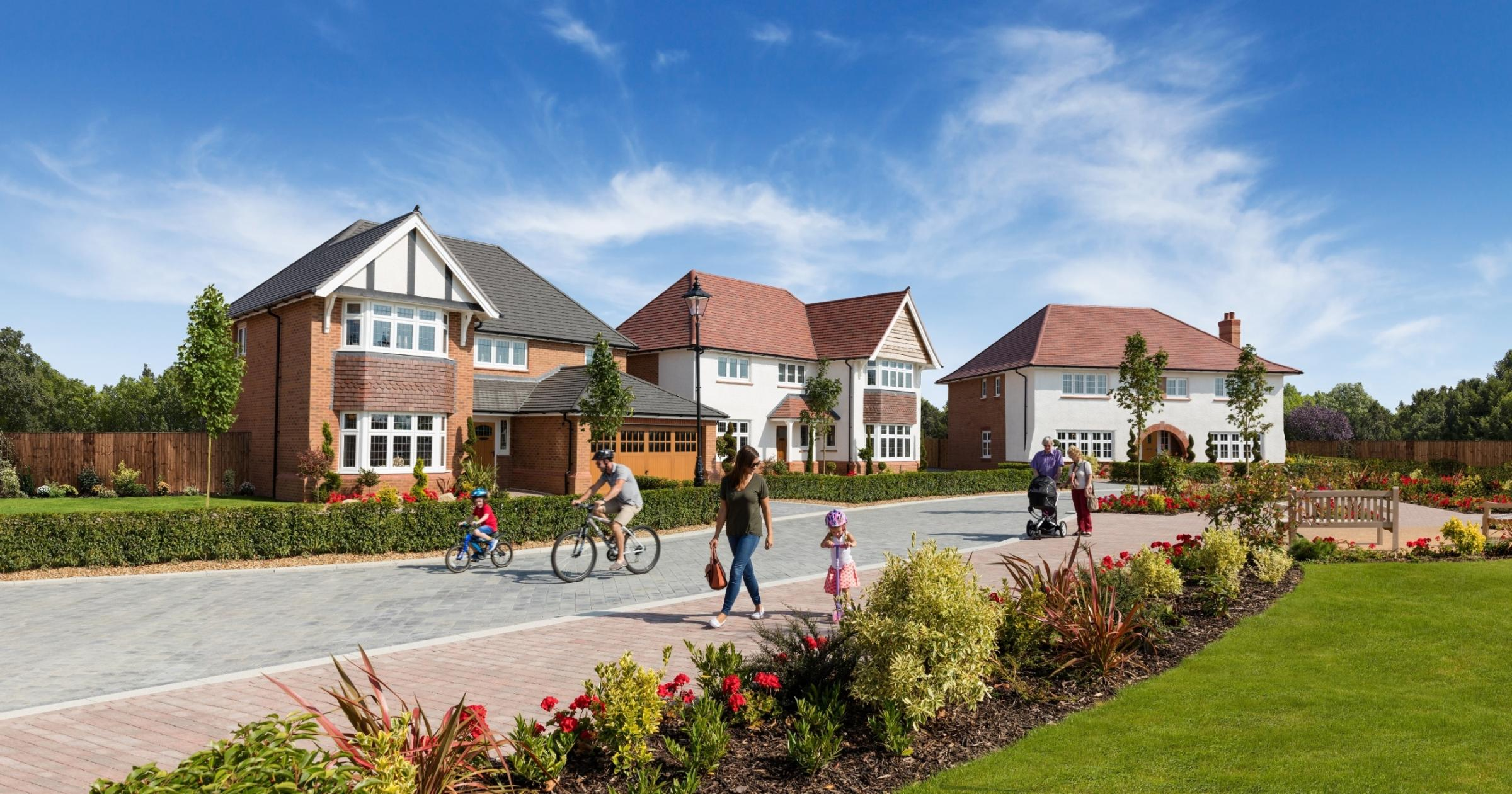 LAND ROW: An image of a Redrow development, in the style of the proposed new village near Monks Cross