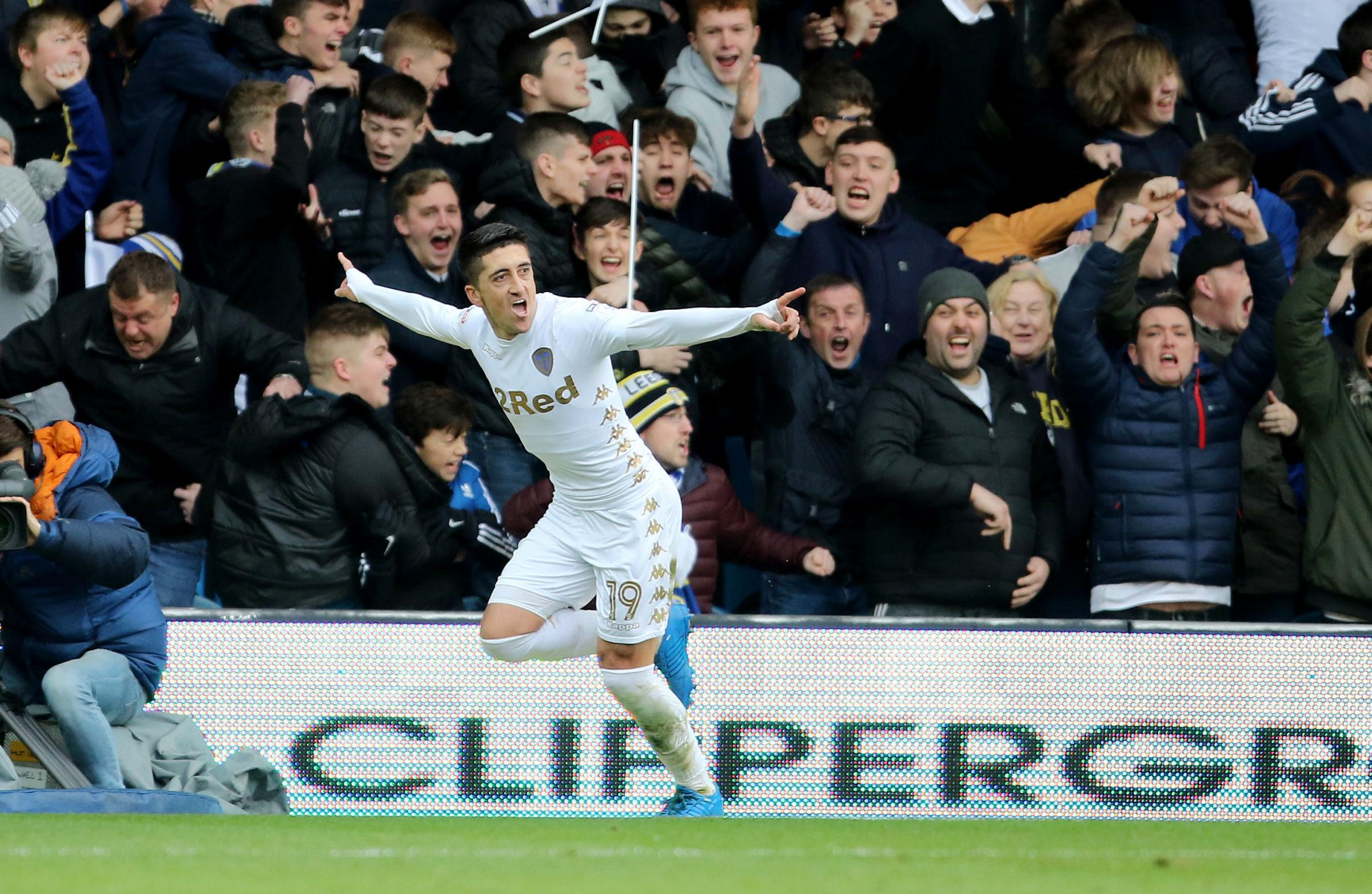 Pablo Hernandez equalised for Leeds with a 61st-minute free-kick – Picture: Richard Sellers/PA Wire