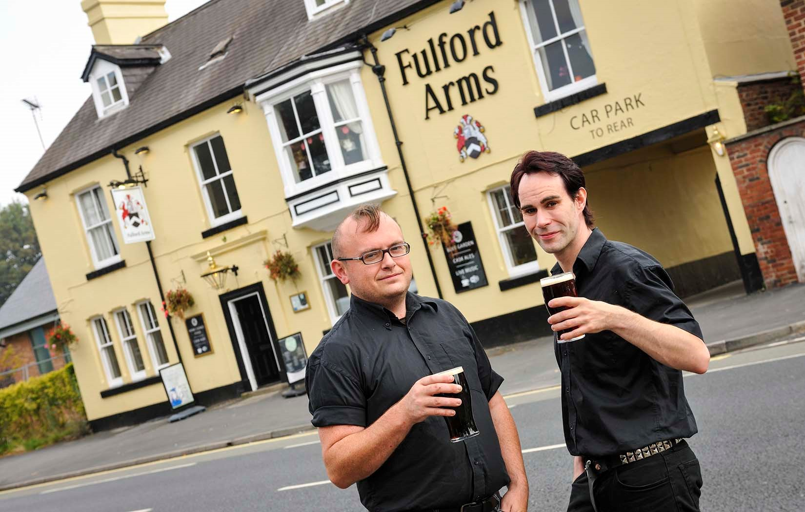 Chris Sherrington and Chris Tuke: marking four years in charge at the Fulford Arms, York