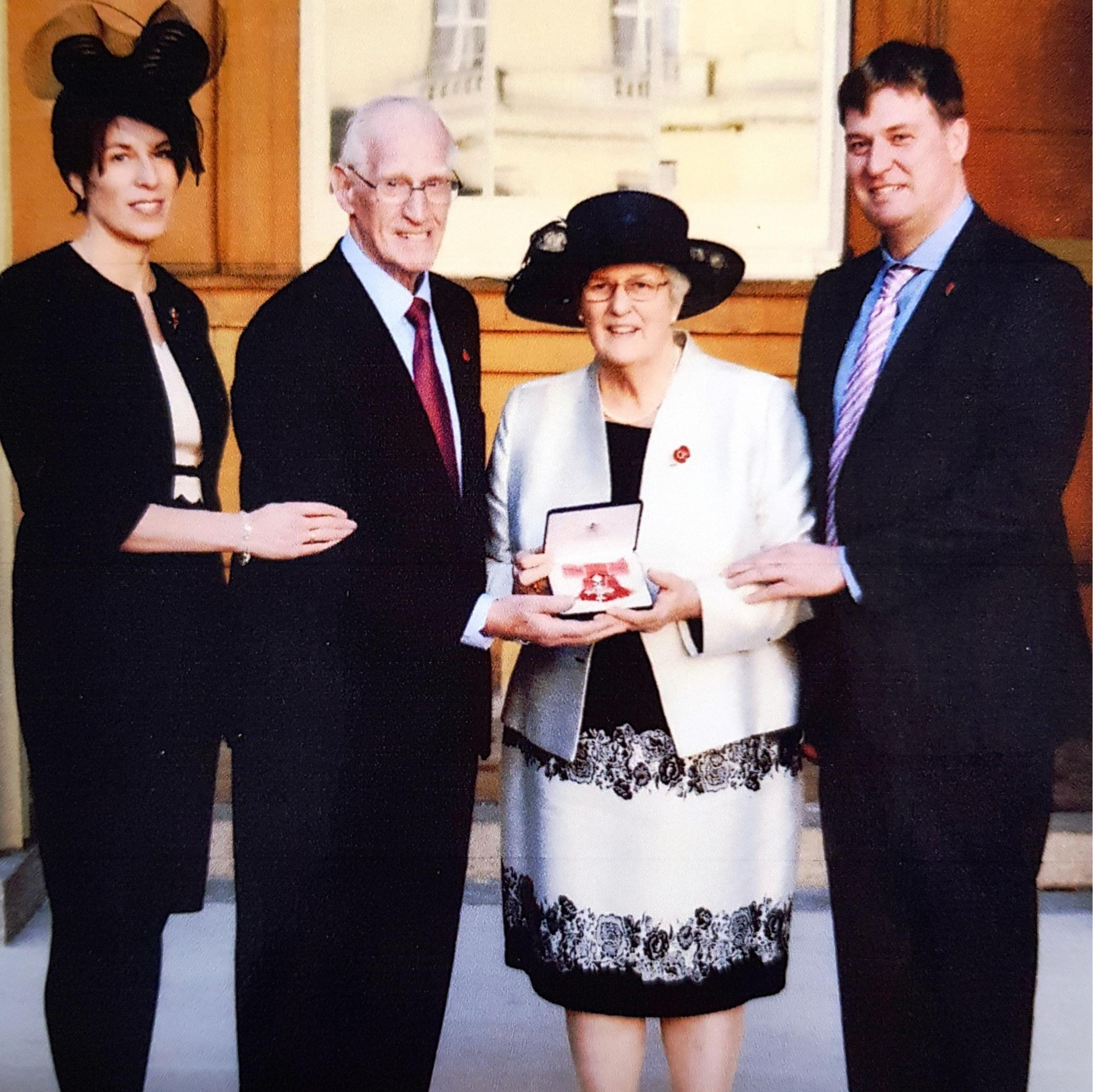 June Cook with her daughter Helen, husband Stuart and son John