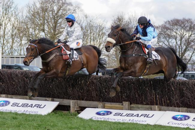 IN THE RUNNING: Knocklong, left, ridden by Catherine Walton, has chances at